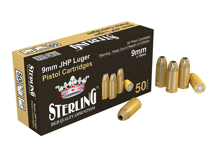STERLING 9mm Luger JHP 7,5g