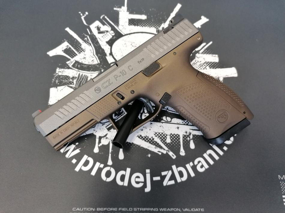 CZ P-10 C CERAKOTE GREY-MIDNIGHT BRONZE, mířidla Night Fision