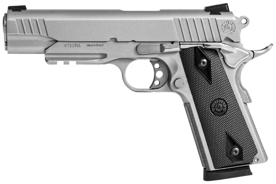 1911 Stainless s railem