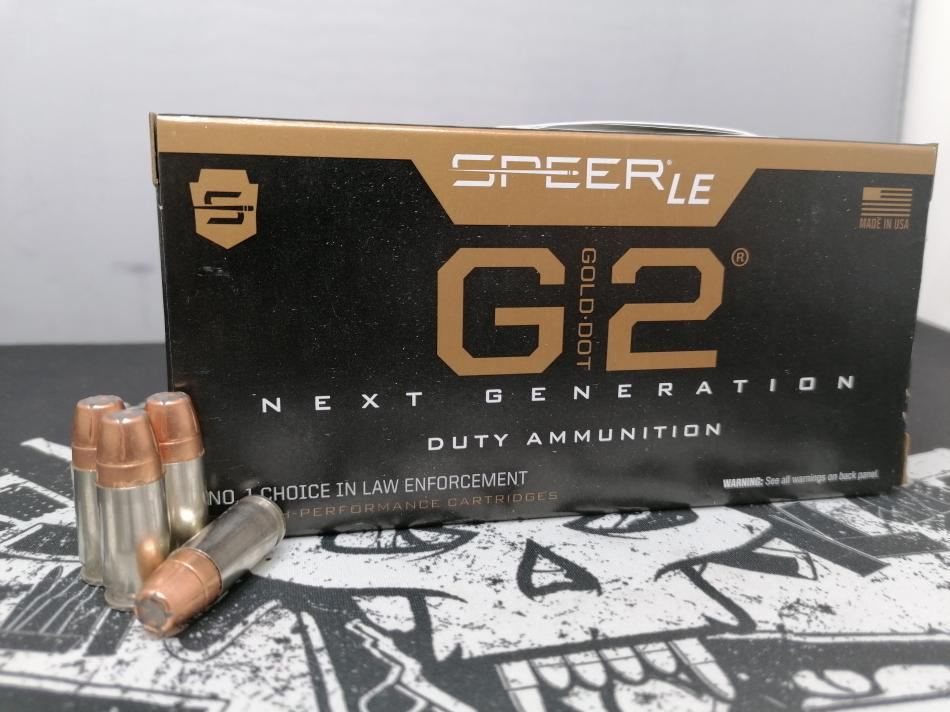 Speer Gold Dot G2 Duty Ammunition, 9x19, 147gr/9,5g
